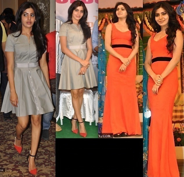 Samantha At Seethamma Vakitlo Sirimalle Chettu Music Launch And At Yeto Vellipoyindi Manasu Press Meet