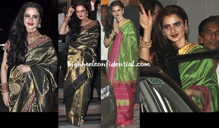 rekha-at-vidya-balans-mehendi-and-at-abhinav-and-ashima-shukla-wedding-reception