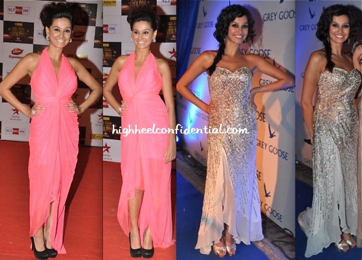 shibani-dandekar-in-komal-sood-at-grey-goose-style-du-jour-event-and-in-falguni-and-shane-peacock-at-big-star-entertainment-awards-2012