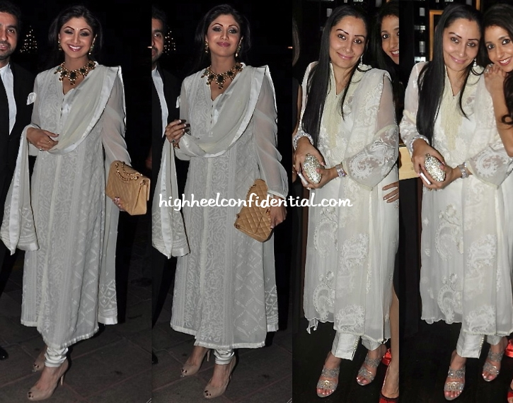 shilpa-shetty-at-abhinav-and-ashima-shukla-wedding-reception-and-manyata-dutt-at-shatrugan-sinha-dinner