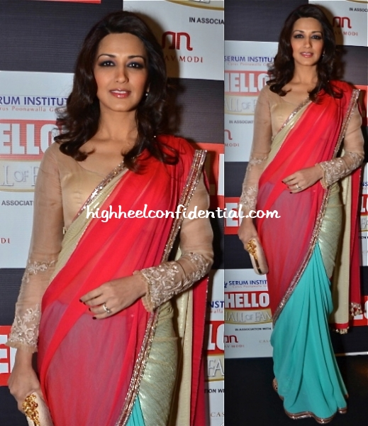 sonali-bendre-in-manish-malhotra-at-hello-hall-of-fame-awards-2012