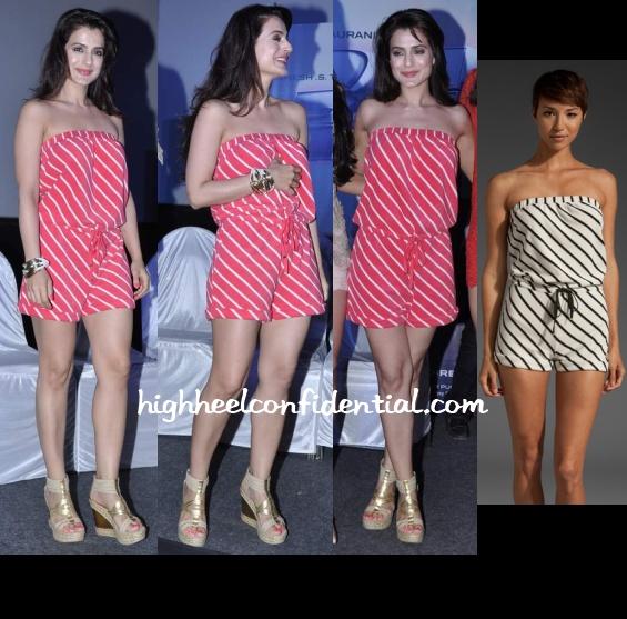 ameesha-patel-juicy-couture-romper-race-2-press-meet