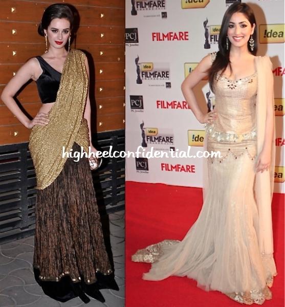 filmfare-awards-2013-evelyn-sharma-yami-gautam-1