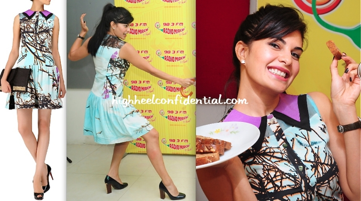 jacqueline-fernandez-in-hemant-and-nandita-at-a-radio-station-for-race-2-promotion