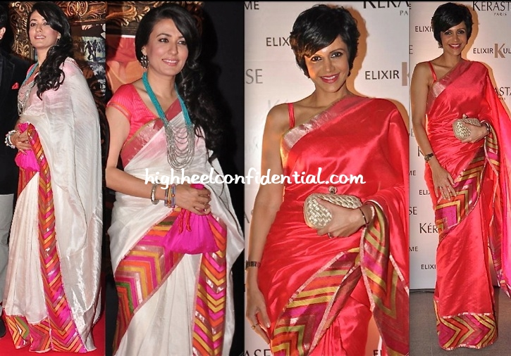 mandira-bedi-at-the-kerastase-and-jade-jagger-event-in-a-raw-mango-sari