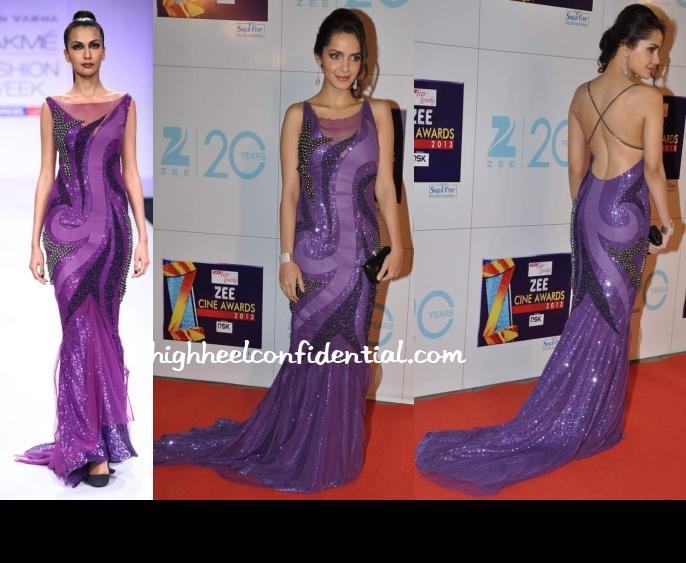 shazahn-padamsee-jatin-varma-zee-cine-awards-2013