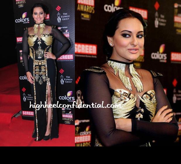 sonakshi-sinha-falguni-shane-peacock-screen-awards-2013