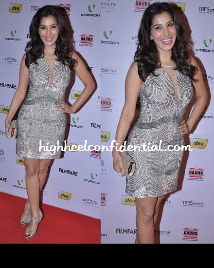 sophie-choudry-rohit-gandhi-rahul-khanna-filmfare-nominations-bash-2013