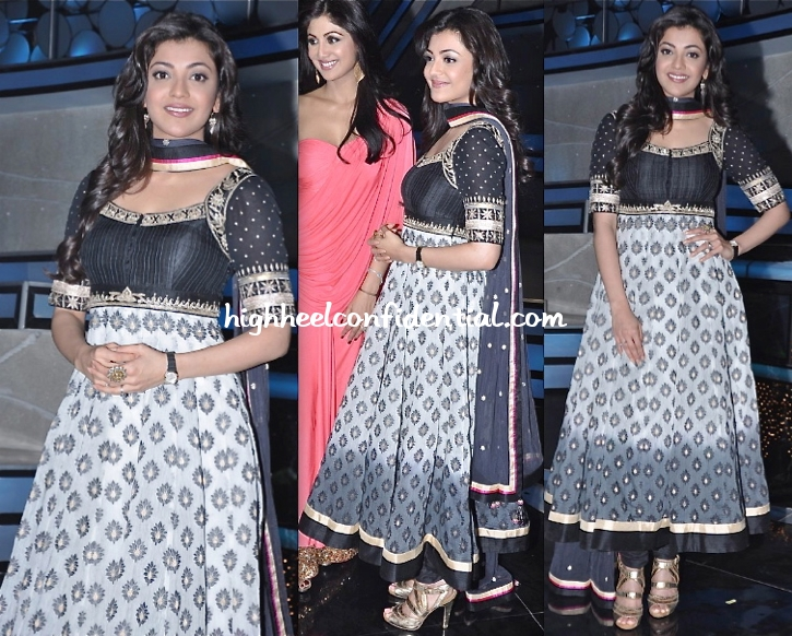 kajal-aggarwal-in-anita-dongre-at-special-26-promotions