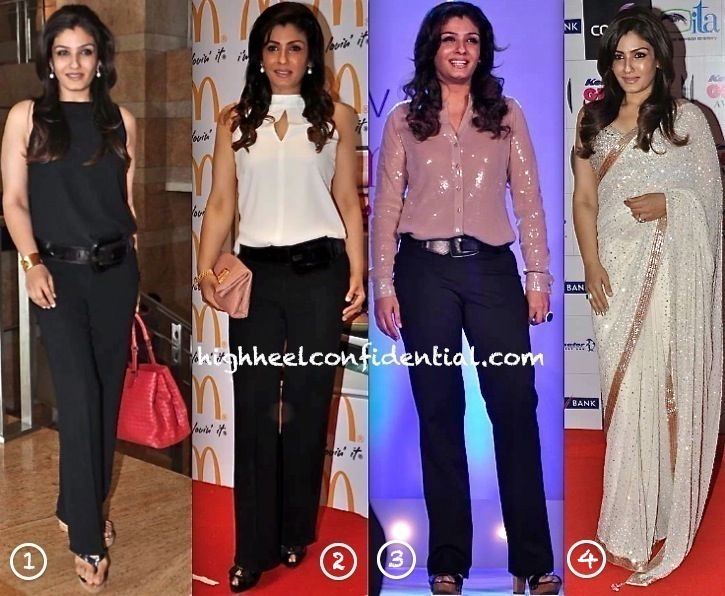 Raveena Tandon At Fusion Awards, Lavasa Women's Drive Awards, McDonalds Event and At Gr8 Women Achievers Awards 2013-2