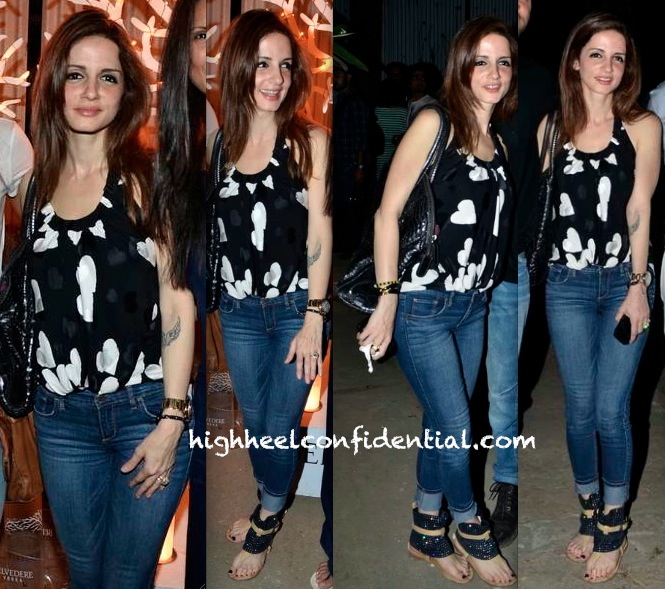 Sussanne Khan Roshan In Moschino At OTLO Special Preview Hosted By Belvedere Vodka