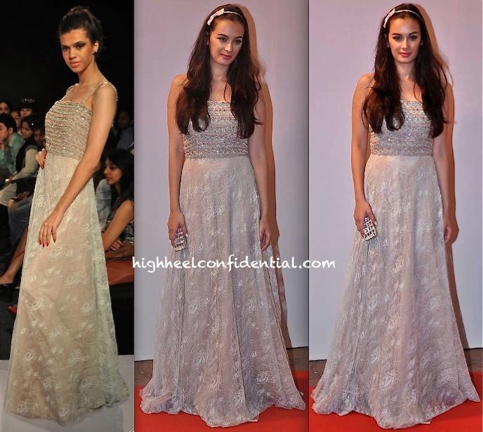 evelyn sharma in deepti pruthi at femina miss india 2013