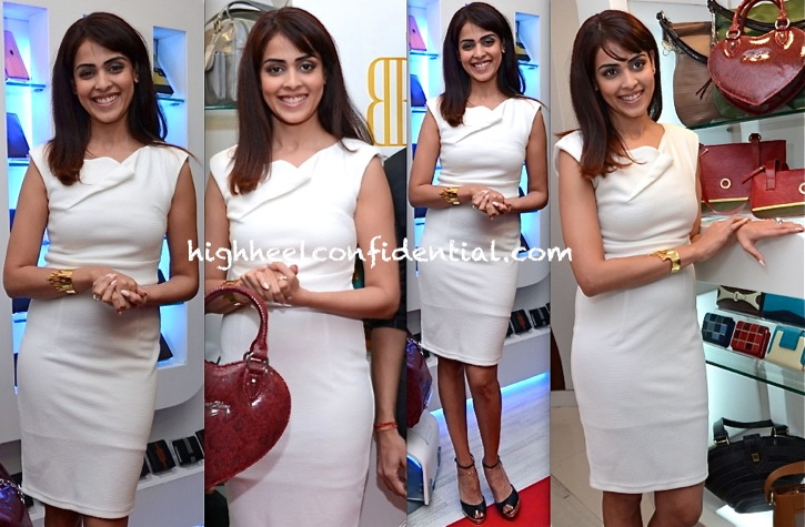 genelia dsouza at blue and blues store launch