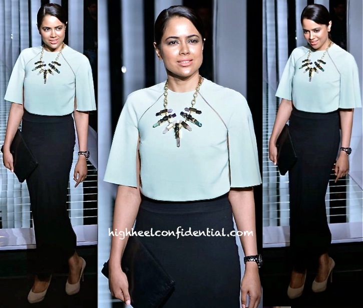sameera reddy at lfw summer resort 2013 finale in huemn