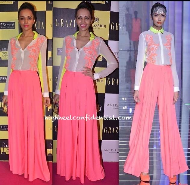 Dipannita Sharma In Namrata Joshipura At Grazia Young Fashion Awards 2013