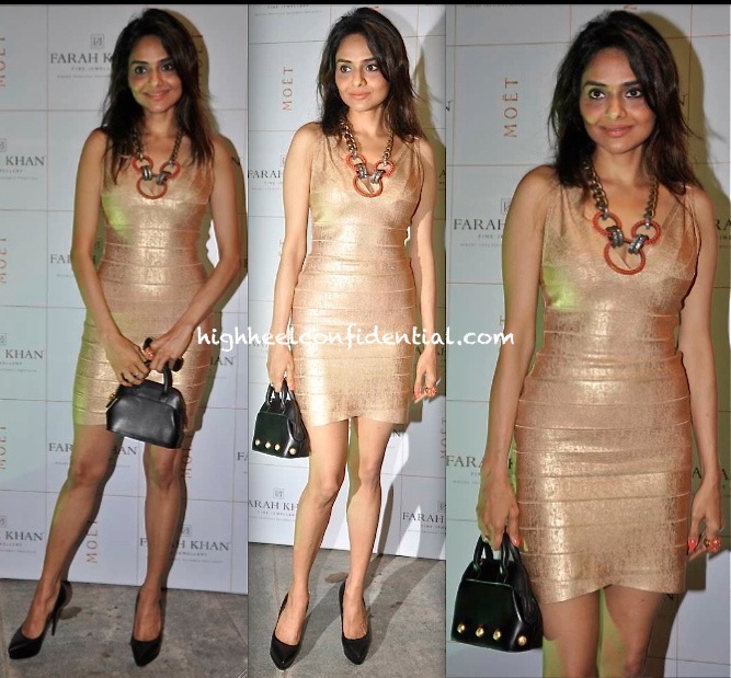 Madhoo Shah At Farah Khan Store Launch In Herve Leger