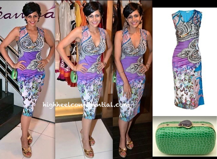 Mandira Bedi In Etro At At Harpers Bazaar And Samsaara Preview