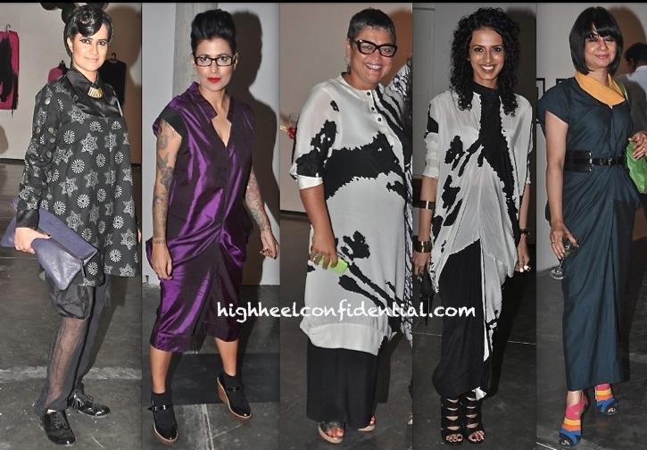 Sona Mohapatra-Aparna Roddam And Others At Kallol Datta Fall Winter 2013 Presentation