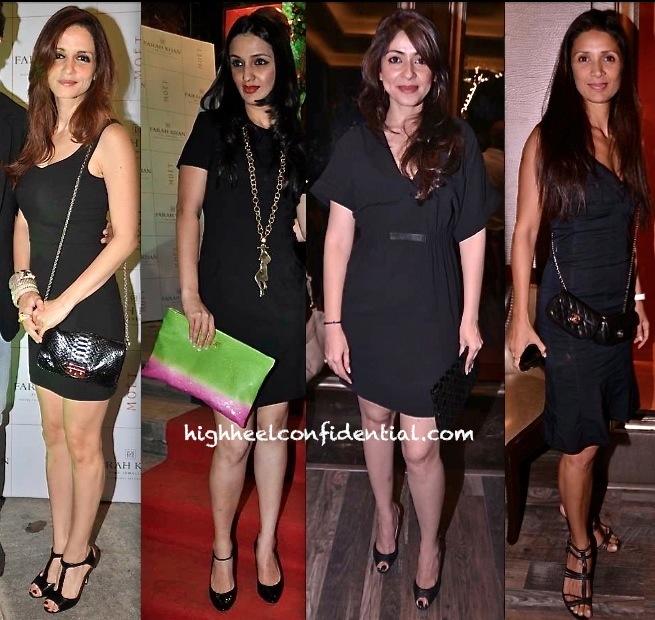 Sussanne Khan Roshan-Anu Dewan-Bhavna Pandey And Mehr Jessia Rampal At Farah Khan Store Launch-1