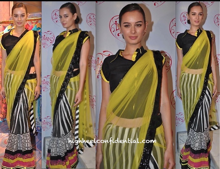 evelyn sharma at indian by manish arora launch