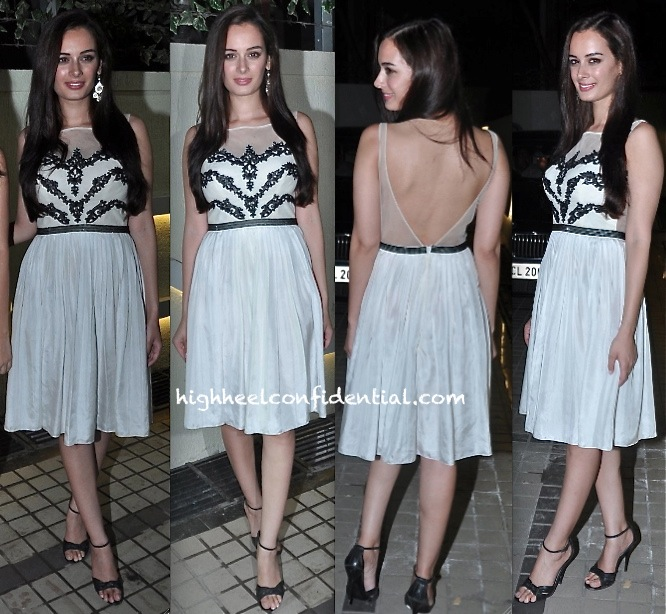 evelyn sharma in rocky s at nautanki saala success bash