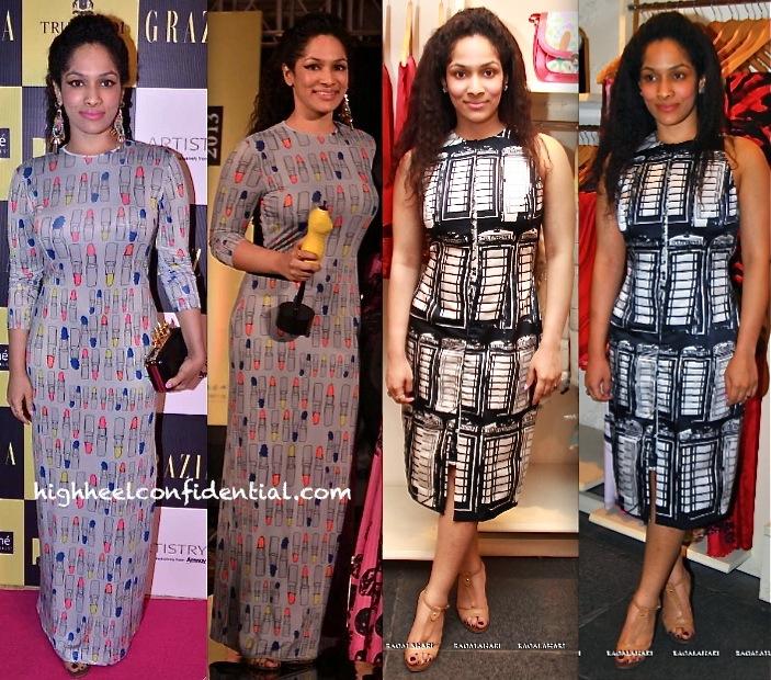 masaba at grazia young fashion awards 2013 and at satya paul store hyderabad