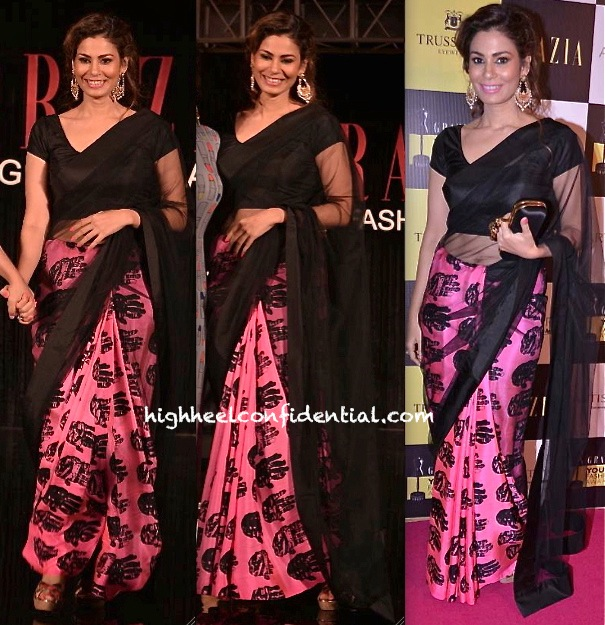 shaheen abbas in masaba at grazia young fashion awards 2013