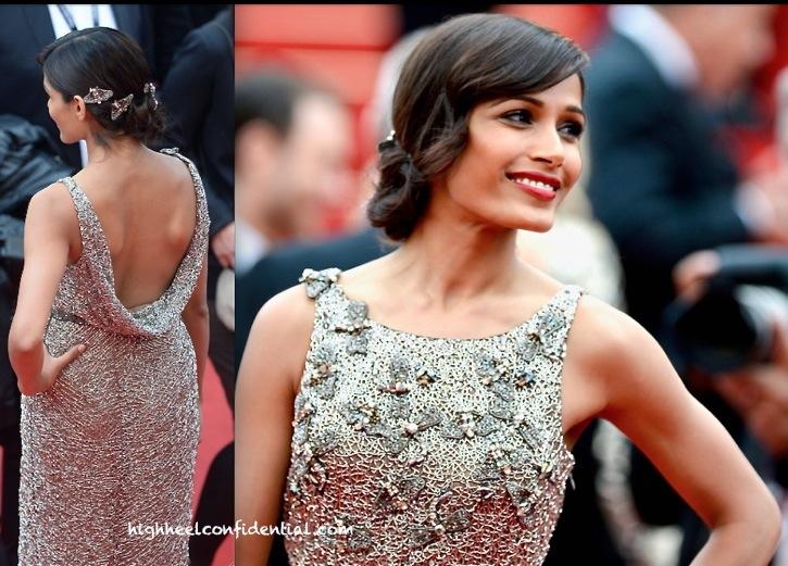 Freida Pinto at Cannes 2013- Jeune and Jolie Screening