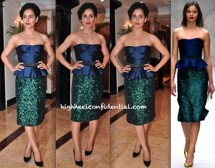 Kangna Ranaut In Burberry At WIFT Event Felicitating National Award Winners
