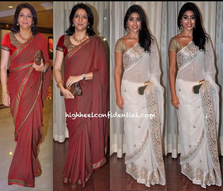Shriya Saran And Priya Dutt At NBC Awards 2013