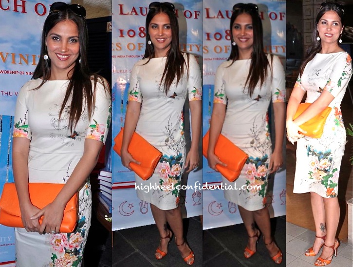 lara dutta in zara at 108 shades of divinity book launch