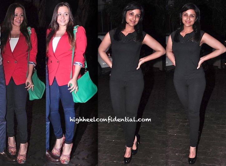 Avantika Malik And Parineeti Chopra At Arjun Kapoor Birthday Bash-1