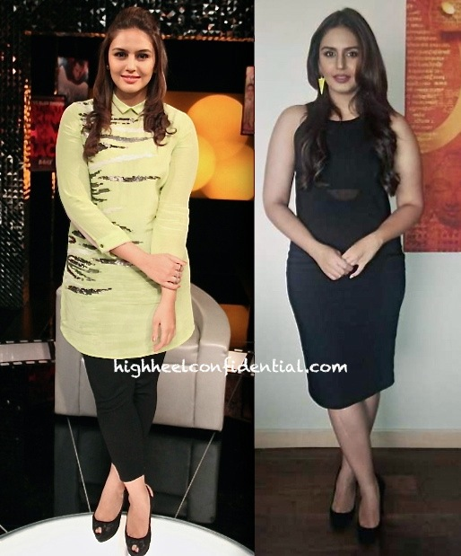 Huma Qureshi In Zara For D-Day Promotion And In Namrata Joshipura On The Front Row With Anupama Chopra