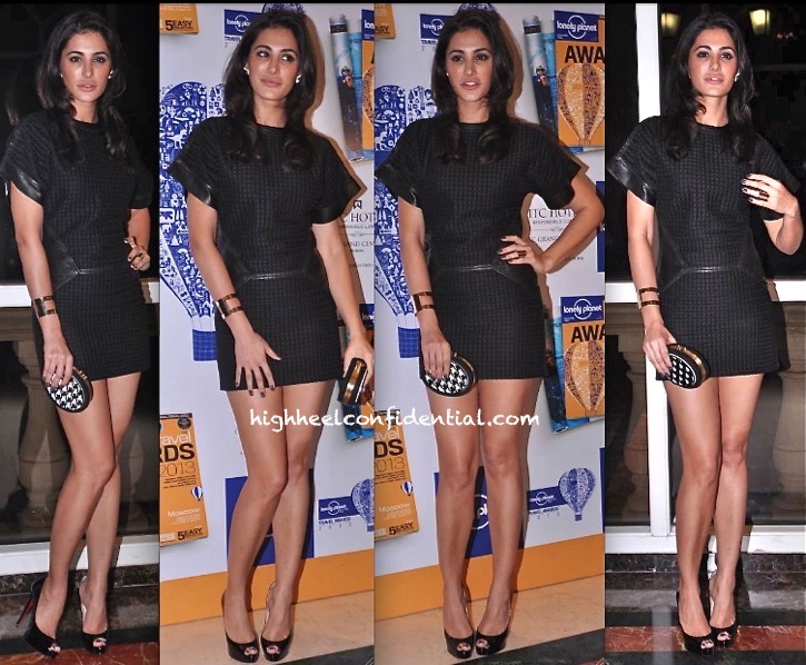 Nargis Fakhri In Salvatore Ferragamo At Lonely Planet Awards 2013
