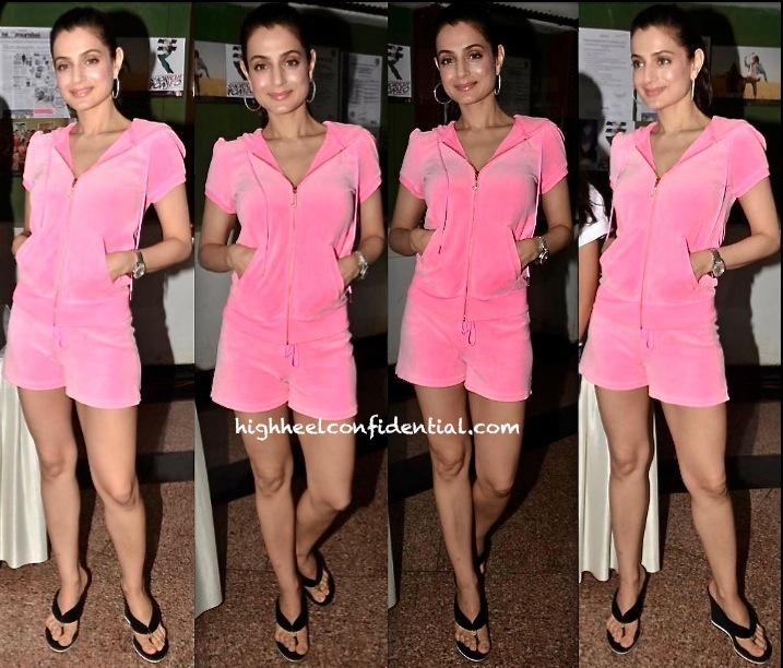 ameesha patel-shortcut romeo promotion-juicy couture