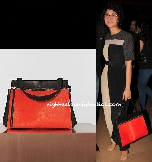 kiran rao at man of steel premiere with celine bag