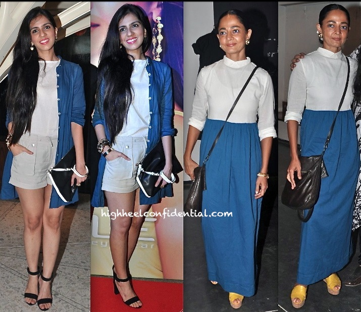 nishka lulla in vogue eyewear launch and sabina chopra at kallol datta fall winter 2013 presentation