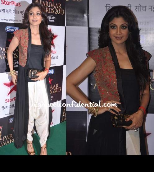 shilpa-shetty-star-pariwar-awards-2013-anamika-khanna-1