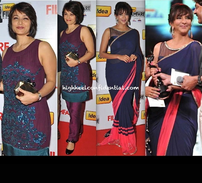Amala Akkineni And Lakshmi Manchu At Filmfare South Awards 2013