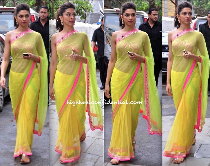 Deepika Padukone In Arpita Mehra At An Event Promoting Chennai Express-1