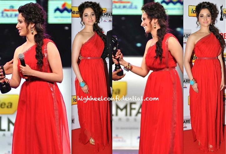 Tamannah At Filmfare South Awards 2013