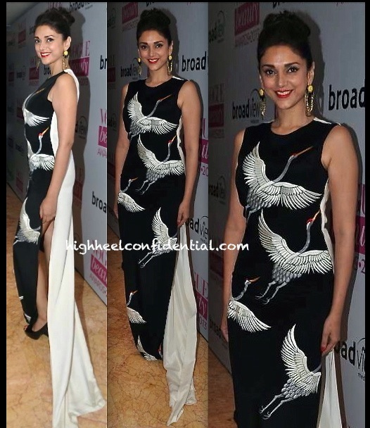 Aditi Rao Hydari In Ashdeen At Vogue Beauty Awards 2013