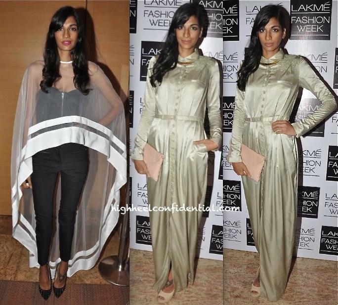 Anushka Manchanda In Nikhil Thampi And Sailex At Lakme Fashion Week
