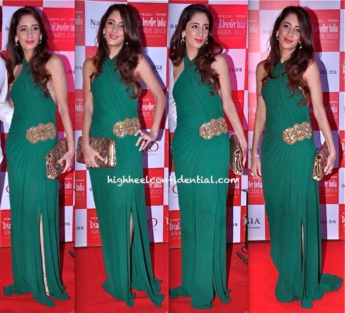 Farah Khan Ali In Monisha Jaising At Retail Jeweller India Awards 2013