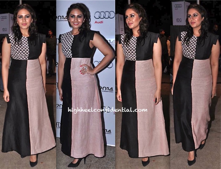 Huma Qureshi In Payal Singal At Audi Autumn Collection 2014 Launch