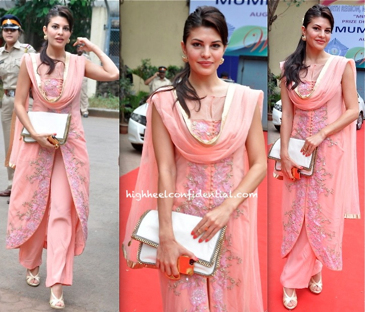 Jacqueline Fernandez In Shehlaa At Mumbai Police Operation Mrityunjay Event
