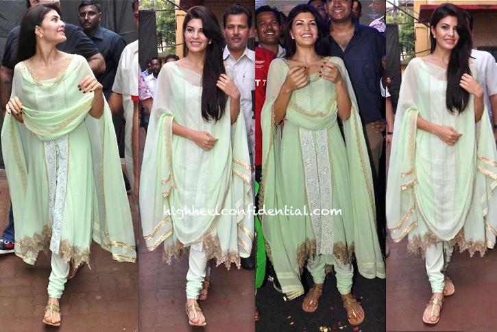 Jacqueline Fernandez Wears Shehlaa To Dahi Handi Celebrations