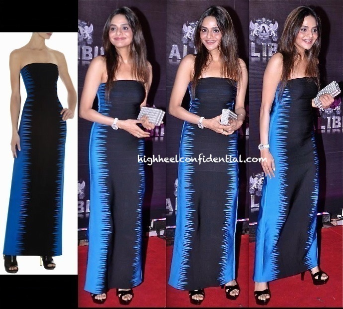 Madhoo Shah At Sridevi's 50th Birthday Bash In herve leger
