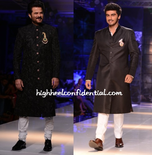 anil-kapoor-arjun-masaba-satya-paul-delhi-couture-week-2013