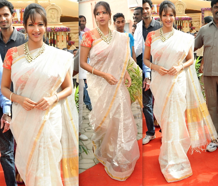lakshmi manchu at a wedding in hyderabad